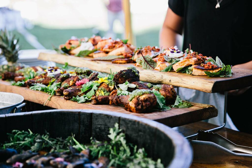 maine catering company fire and company wood fired catering open fire cooking new england catering company