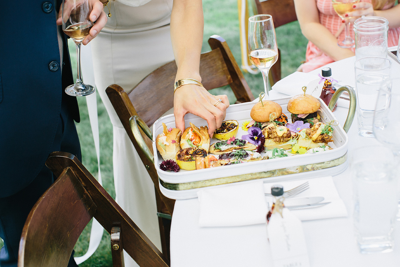 Maine Wedding Catering Company Serving Wood-Fired Appetizers